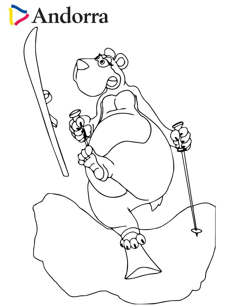 Dibujos para colorear oso pirenaico travieso - es.hellokids.com