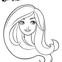 Dibujo para colorear : Retrato de Barbie