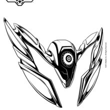 Dibujo para colorear : Steel el compañero de Max Steel