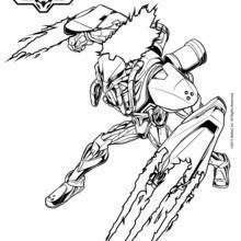 Dibujo para colorear : Toxzon el enemigo de Max Steel