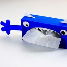 Manualidad infantil : Caja de pañuelos