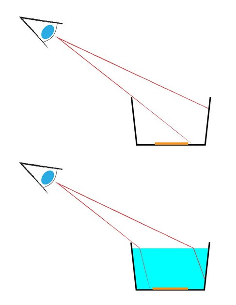 Manualidad infantil : La refracción