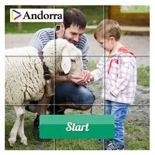 Puzzle en línea : Ovejas y corderos en Andorra