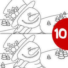 MUÑECO DE NIEVE busca las 10 diferencias