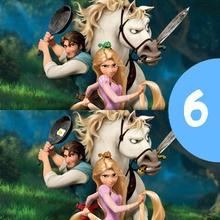Juego de buscar las diferencias : Juego de las diferencias de Enredados Disney