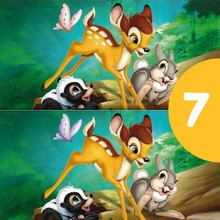 Juego de buscar las diferencias : Los errores de Bambi