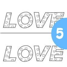Juego de buscar las diferencias : Amor en inglés