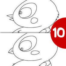 Pollito busca las 10 diferencias