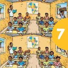 Juego de buscar las diferencias : Una escuela africana
