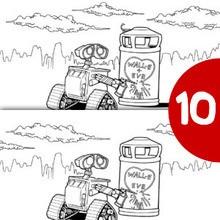 Dibujo para colorear : Wall-e enamorado