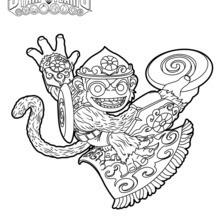 Dibujo para colorear : Fling Kong