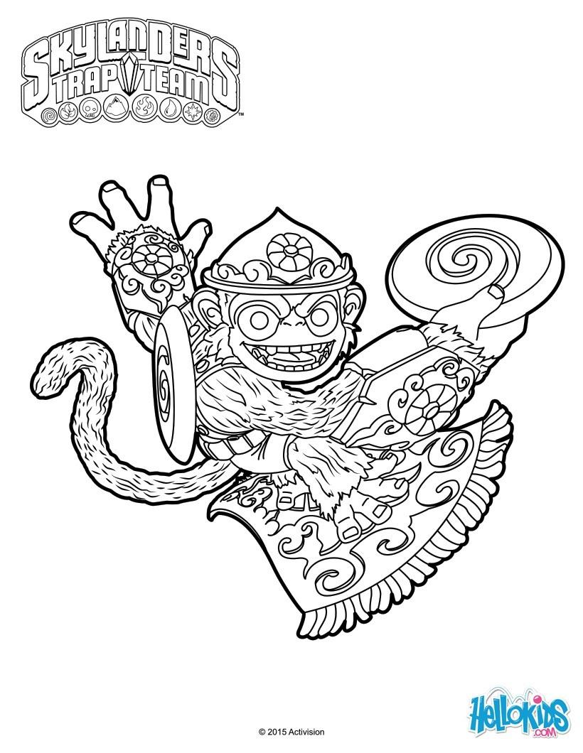 Dibujos para colorear fling kong - es.hellokids.com