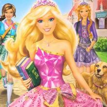 Dibujos de Barbie en la Escuela de Princesas para colorear