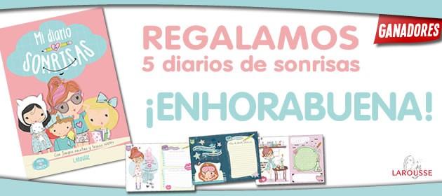 Regalamos 5 libros Mi Diario de Sonrisas