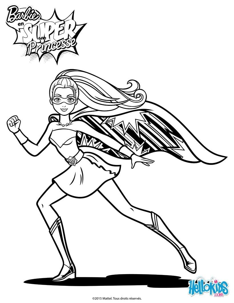 Dibujos para colorear barbie súper princesa para imprimir - es ...