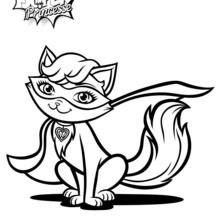 Dibujo para colorear : Súper gata