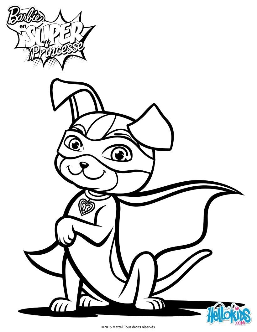 Dibujos Para Colorear Súper Perro Eshellokidscom