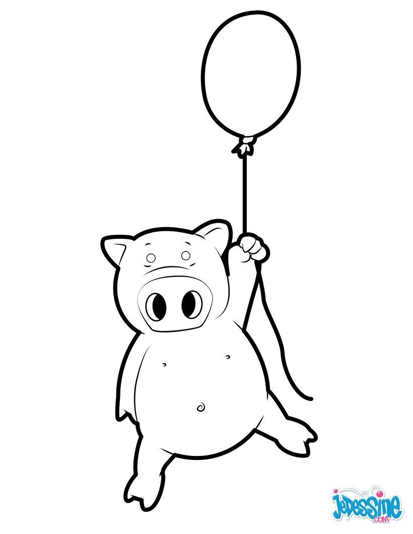 Dibujos para colorear cerdo que vuela - es.hellokids.com