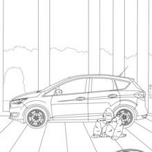 Dibujo para colorear : Las curvas del Ford C-MAX