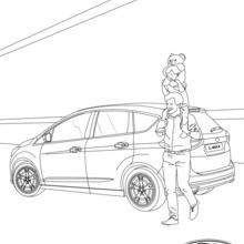 Ford C-MAX, vista de atrás