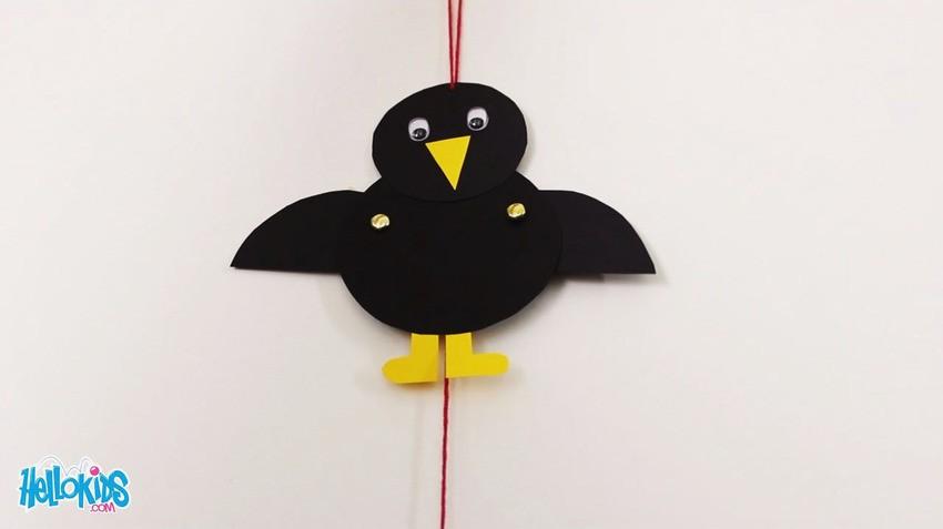 Manualidad infantil : El títere cuervo