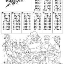 Dibujo para colorear : Tablas de multiplicar Inazuma Eleven