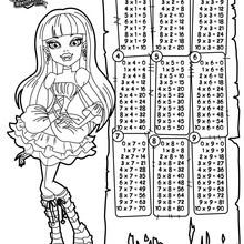 Dibujo para colorear : Tablas de multiplicar Monster High