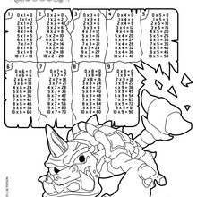 Dibujo para colorear : Tablas de multiplicar Skylanders