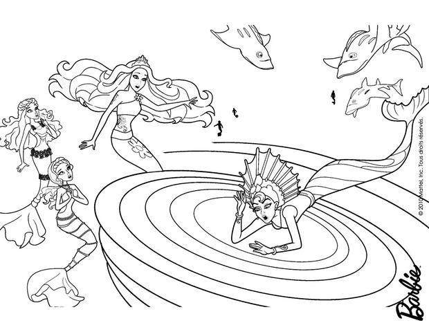 Dibujos para colorear las sirenas merliah y calissa  eshellokidscom