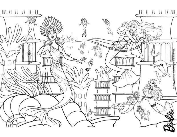 Dibujos para colorear las sirenas eris y merliah - es.hellokids.com