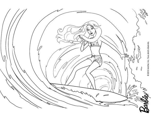 Dibujos para colorear merliah en las olas  eshellokidscom