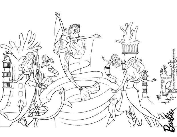 Dibujos para colorear merliah escapandose del remolino - Dessin barbie sirene ...