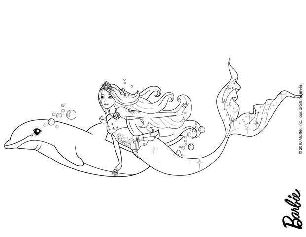 Dibujos de BARBIE Una aventura de Sirenas para colorear  62