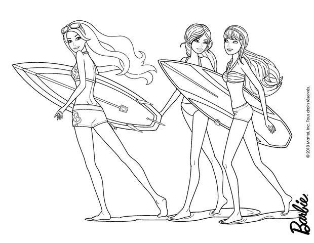 Dibujos para colorear merliah estrella del surf  eshellokidscom