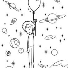 Dibujo para colorear : Perdido en la galaxia