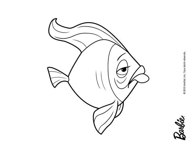 dibujos para colorear pez  eshellokids