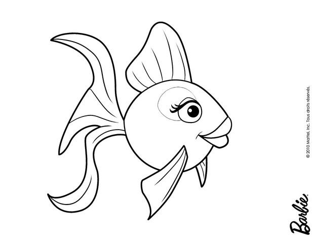cute cartoon fish coloring pages - photo#16