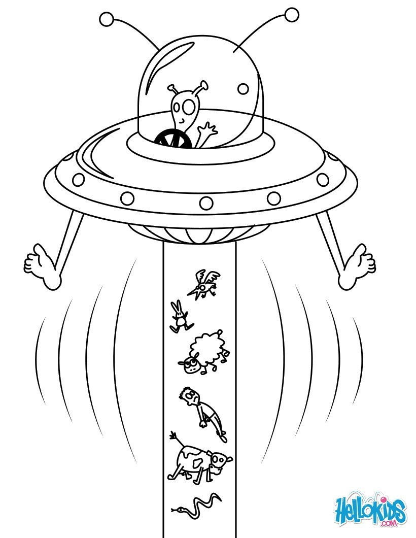 Extraterrestre : Dibujos para Colorear, Dibujo para Niños, Juegos ...