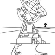 Dibujo para colorear : Radar espacial