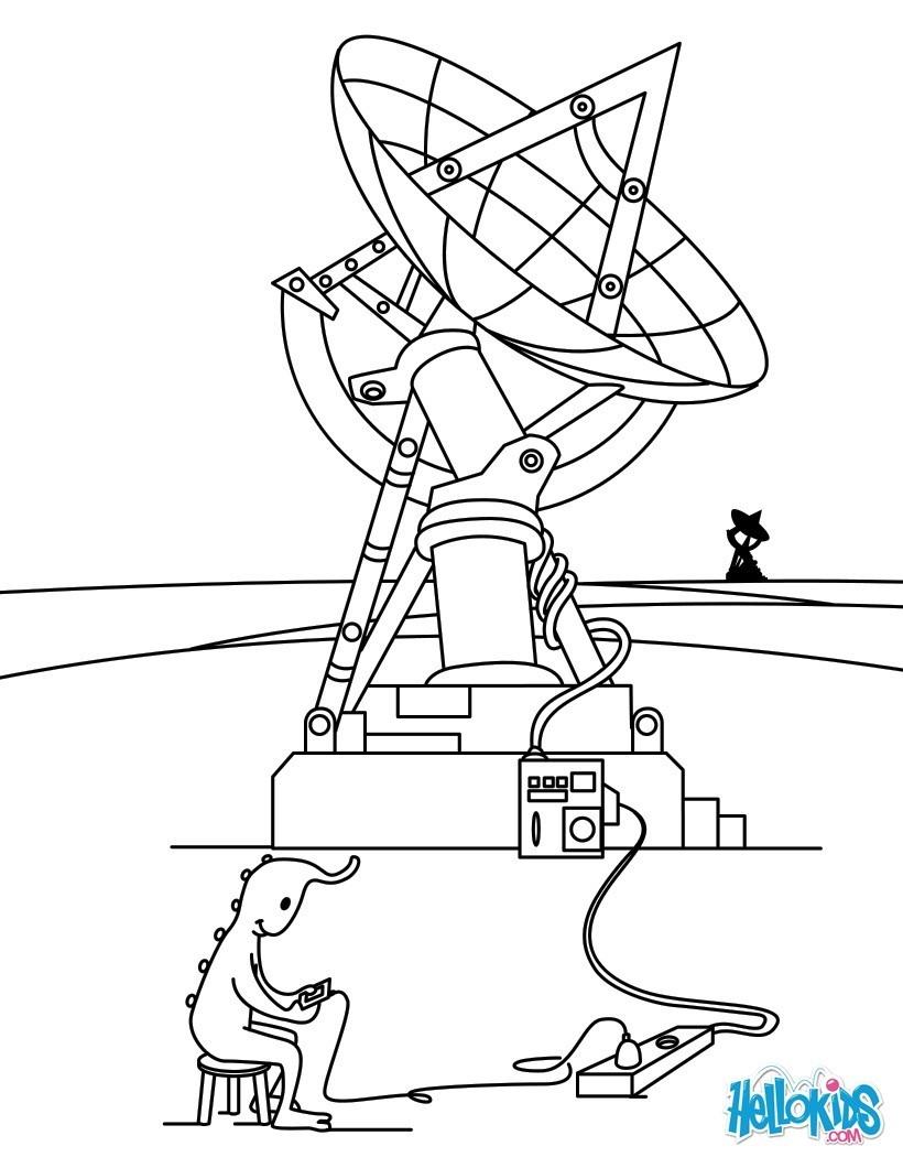 Dibujos para colorear radar espacial - es.hellokids.com