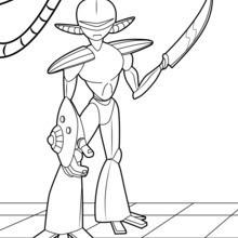 Dibujo para colorear : Robot guerrero