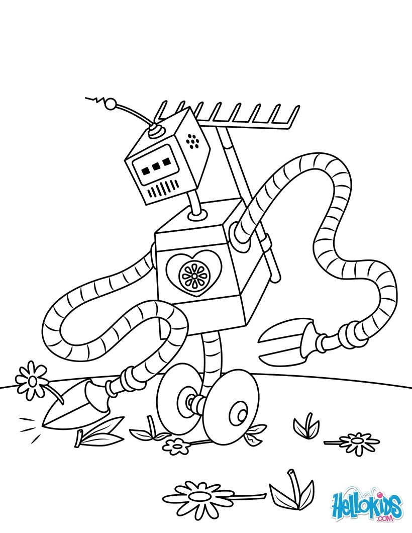 Robot : Dibujos para Colorear, Juegos Gratuitos, Videos y Tutoriales ...