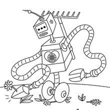 Dibujo para colorear : Robot jardinero