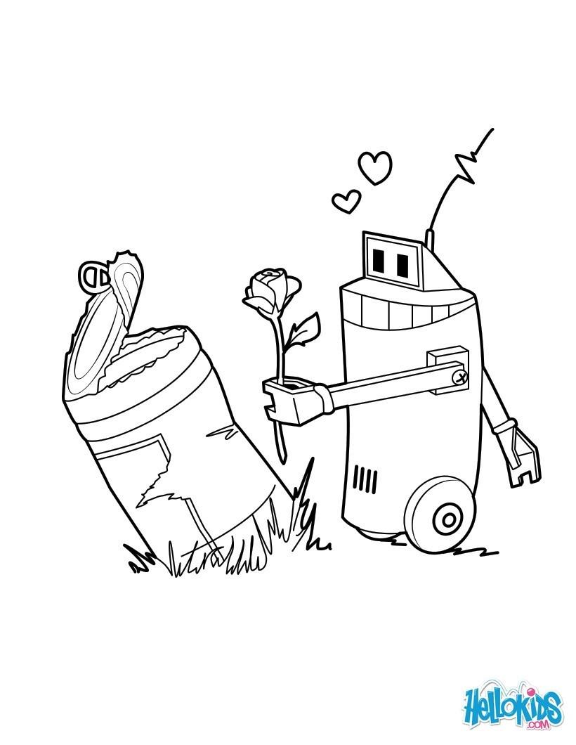 Dibujos para colorear robots en lata  eshellokidscom