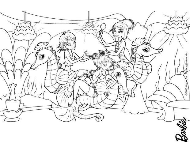 Dibujos de BARBIE Una aventura de Sirenas para colorear - 62 laminas ...