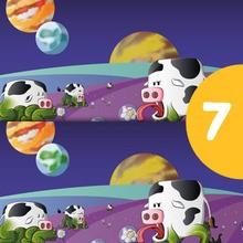 Juego de buscar las diferencias : Las vacas extraterrestres