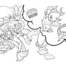 Dibujo para colorear : BARBIE Sirena