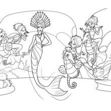 Dibujo para colorear : ERIS la reina mala de las sirenas