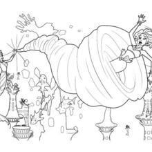 Dibujo para colorear : ERIS luchando contra MERLIAH