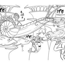 la SIRENA ERIS en su carro submarino